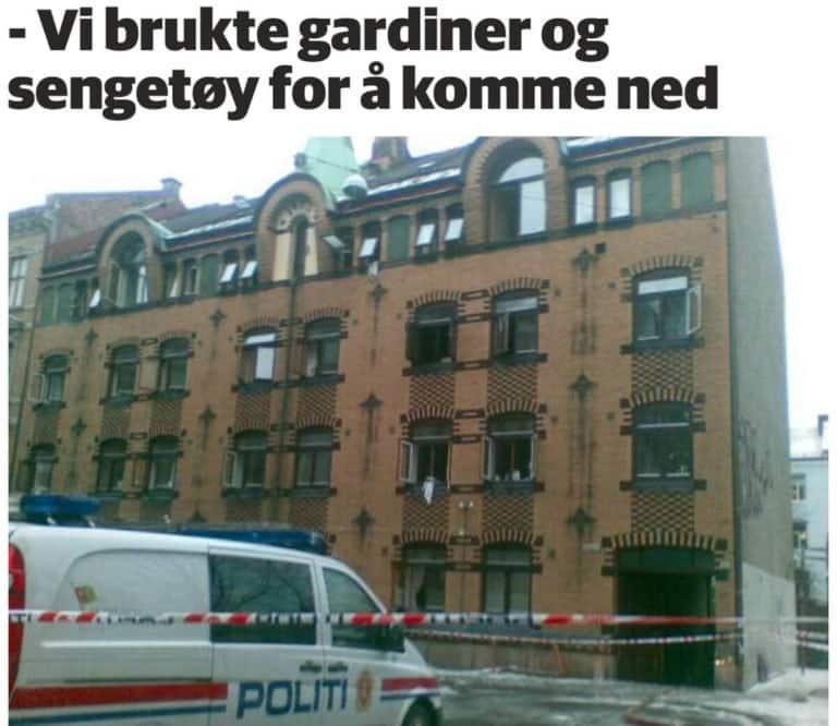 Reddet i fra flammene med bruk av Brannstiger i Oslo