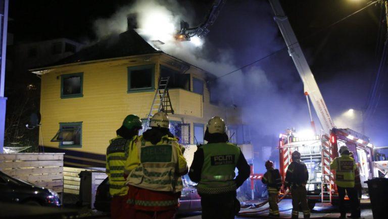 Brann i firemannsbolig i Bergen